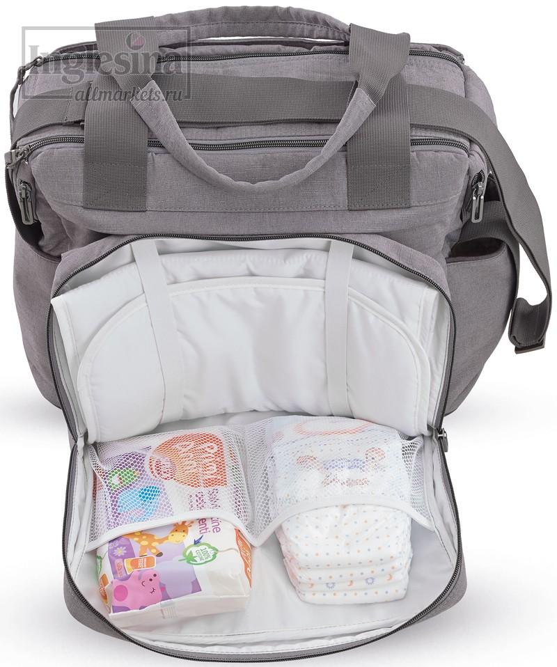 2b4f688a015c Специальные отсеки для хранения необходимых вещей. Специальные отсеки для  хранения необходимых вещей. Вместительная универсальная сумка Inglesina  Dual Bag