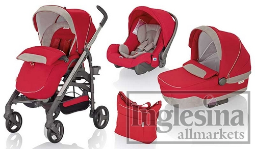 Модульная система Inglesina Modular Trilogy System 3 in 1 Luna Red